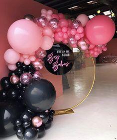 Balloon Decorations Without Helium, Balloon Backdrop, Balloon Columns, Balloon Garland, Pink Parties, Birthday Parties, Themed Parties, Deco Ballon, Balloons Galore