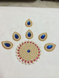 Kundan rangoli - rearrangable