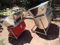 Duo Cookers at work- Catssol  solar ovens made in Brazil