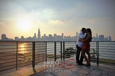 Adler Planetarium, Chicago engagement photos. Angel Eyes Photography.