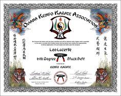 Art Certificate, Kenpo Karate, Great Friends, Black Belt, Martial Arts, Beautiful, Teacher, American, Professor