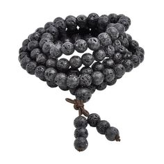 This lava rock gem stone Buddhist mala bracelet brings strength and resilience for any mindful seeker. Experience the benefits of using a mala during meditation!