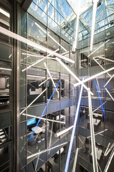 Suspended Tubo fittings - ENERGY GAZPROM NEFT GROUP NEW BUSINESS CENTER, ST. PETERSBURG, RUSSIA