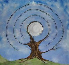 Value tree. I so wish I could find the original artist for this work. Labyrinth Garden, Labyrinth Maze, Ancient Symbols, Rock Art, Mystic, Spirituality, Artsy, Natural, Abstract