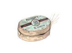 """Petterøes Tobakk"" (Norwegian vintage tobacco box)  Copyright: Emmeselle.no   illustration by Mona Stenseth Larsen"