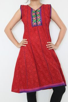 Elegant Rajasthani Kurti with printed concept | Artzone14 - Clothing on ArtFire