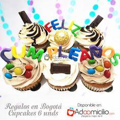 Encuentra lindos cupcakes a domicilio en Bogotá originales y personalizados para hombres y mujeres más de 5000 regalos, cupcakes,tortas, flores y desayunos sorpresa en Adoomicilio.com Regalos de cumpleaños  a domicilio , cupcakes para cumpleaños, ideas decoración para cumpleaños