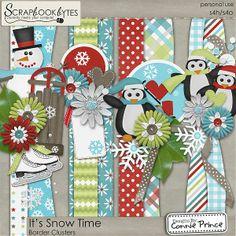 It's Snow Time - Border Clusters :: Page Edges :: Embellishments :: SCRAPBOOK-BYTES