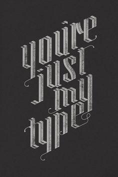 Scholar chalk typography