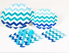 Chevron Blue Party Pack- reminds me of water. Would be cute with pink chevron too