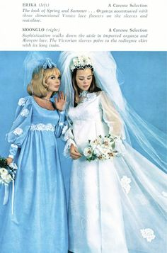 I have this brochure from Caresse that shows some of the choices brides could make in Don't miss the hair or veils, you won't be able . 1970s Wedding, Formal Wedding, Bridal Gowns, Wedding Gowns, Veil, 1960s, Ads, Weddings, Bride