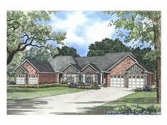 2 bed, 2 bath, boat storage each Multi-Family House Plan, 025M-0034