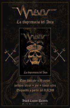 """""""METALHOUSE"""": WAKAS """"La Supremacía del Inca"""" Tape Oficial. Las Legiones Negras de Chimbote! WAKAS tiene un nuevo lanzamiento oficial programado para inicios de 2018. LA SUPREMACÍA DEL INCA estará disponible en Tape desde el primero de enero en edición limitada solo para coleccionistas devotos a la Cosmovisión Andina y el Heavy Doom Metal."""