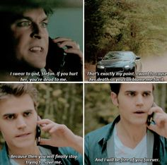 Tvd 8x11 - I'll take care of both of us, Stefan. No, you won't, Damon. You're not capable of it, but you'll keep trying to interfere with everything as long as we're connected through her. That is why I want Elena gone.