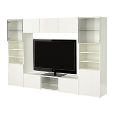 BESTÅ TV/storage combination IKEA Adjustable shelf; easy to place according to your own needs. Adjustable feet for stability on uneven floors.