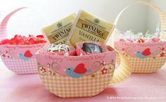 Party Planning Center: Gratis cajas de dulces para imprimir y tarjetas de San Valentín para niños