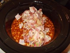 Add the Renderend Bacon Crockpot BBQ Baked Beans