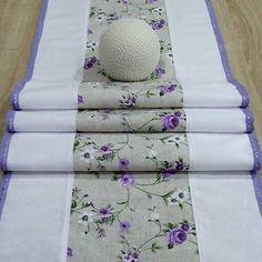 dekoračný obrus, stredový behúň, dlhý obrus do fialova Textiles, Paths, Fabrics, Textile Art