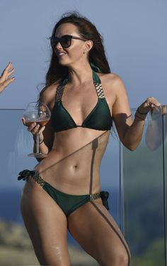 JENNIFER METCALFE in Bikini at a Pool in Ibiza  actress bikini Jennifer Metcalfe