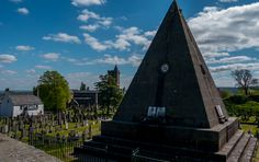 Pyramid in a graveyard outside the Castle Esplanade.