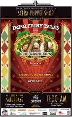 MARCH PUPPET SHOW: The Gashlers Irish Fairy Tales.  Saturday, March 16 @ 11am.  Perfect way to celebrate St. Patty's Day!