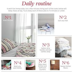 The Ultimate #Home #Cleaning Daily Routine..