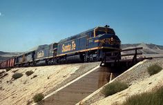 Santa Fe Railway freight train at Alray, CA