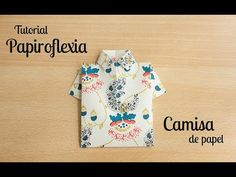 Papiroflexia: Camisa de papel para vales y bonos regalo. Origami. Folding paper like a shirt. Wrapping gift vouchers.