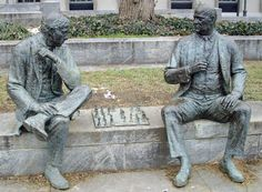 The Chess Players: It's not over until it's over Washington DC - Artist : Lloyd Lillie http://dctourguideonline.com/2011/02/04/the-chess-players-it%E2%80%99s-not-over-until-it%E2%80%99s-over/