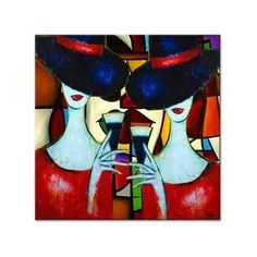Acryl schilderij 'My Best Friend' door Irina, formaat 80 x 80cm op canvasdoek. Bekijk bij Kunstvoorjou.nl #schilderij #kunst #popart #woonkamer #interieur #cocktail #horeca #vriendinnen #eetkamer #cocktailglazen #happy hour