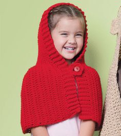 Adorable Red Riding Hood #crochet cape :)