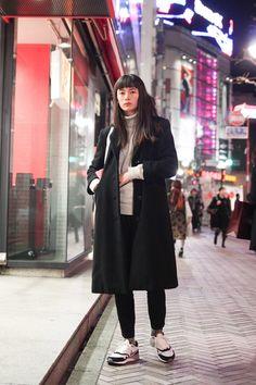 ストリートスナップ渋谷 - Lee Momokaさん - H&M, NIKE, UNIQLO, used, エイチアンドエム, ナイキ, ユニクロ, 古着