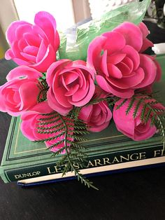 Barbie Doll Accessory BOUQUET of PINK ROSES Beautiful Prop for Display
