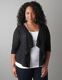 dbb2fcb55a4 Sparkle stitch shrug Plus Size Blouses