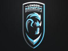 London Broncos 1 designed by Fraser Davidson. Web Design Logo, Game Logo Design, Cricket Logo, Fantasy Logo, Soccer Logo, Esports Logo, Horse Logo, Great Logos, Logo Concept