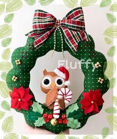 Guirlanda de natal em feltro; garland felt christmas