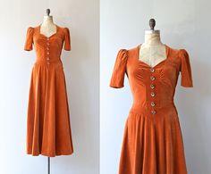 Wild Calla dress  vintage 1930s dress  velvet 30s by DearGolden