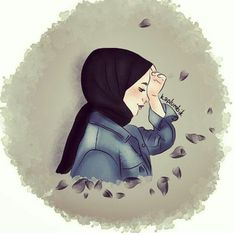 Always tolerance Her - - Emoji Wallpaper, Cute Wallpaper Backgrounds, Galaxy Wallpaper, Cute Wallpapers, Tmblr Girl, Sarra Art, Hijab Drawing, Islamic Cartoon, Anime Muslim