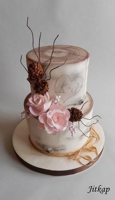 Wedding cake - cake by Jitkap Beautiful Cake Designs, Gorgeous Cakes, Amazing Cakes, Wedding Cake Designs, Wedding Cakes, Fondant Cakes, Cupcake Cakes, Cake Design Inspiration, Garden Cakes