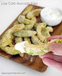 Low Carb Avocado Fries #Avocadofries, #Avocadofriesrecipe, #Avocados