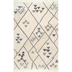MoDRN Scandinavian Sketched Triangles Area Rug - Walmart.com