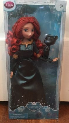 "Disney Store Brave Princess Merida 11"" Doll w Bear Cub | eBay"