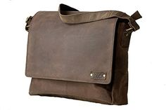 Handmadecraft Jhadol Vintage Style Genuine Buffalo Leather Messenger Unisex Satchel Flapover Shoulder Bag Leather Laptop Bag *** Read more reviews of the product by visiting the link on the image.