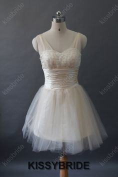 Short prom dress  ivory prom dress / short party by KissyBride, $99.00 comes custom made in any color