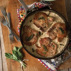 This easy recipe for skillet pork chops utilizes brown butter, gravy and sage for a moist chop that's full of flavor.