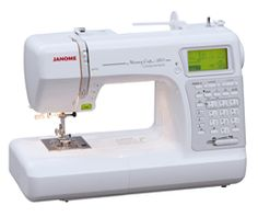 "Janome DC2011 Computerized Sewing Machine with 50 Built-In Stitches w/ Hard Case + Walking Foot + 1/4"" Foot and More! 