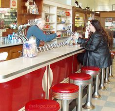 The Soda Fountain--grilled cheese and a chocolate milkshake tasted the best from here!