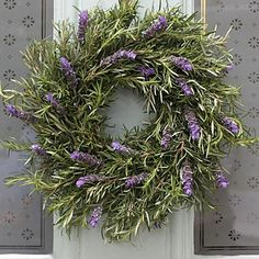 THE REAL FLOWER COMPANY Christmas Scented Rosemary & Lavender Herb Wreath