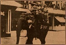 Still from the 1910 silent film Gone to Coney Island. The film was released on the same reel with Booming Business.  Both films are lost.