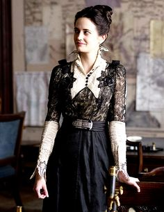 "Eva Green in "" Penny Dreadful ""/ TvSeries /Confessions of a Vintage Hoarder by Leah Loverich Steampunk Fashion, Victorian Fashion, Eva Green Penny Dreadful, Actress Eva Green, 20th Century Fashion, Triquetra, Arizona Robbins, Dark Fashion, Sensual"